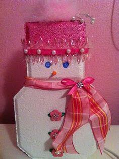 Paver snowman