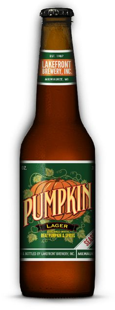 Pumpkin Lager from Lakefront Brewery! I have to have it every fall. Lakefront Brewery's Pumpkin Lager is one of the only pumpkin lagers available in the world; nearly all other pumpkin beers are ales. Tasty!
