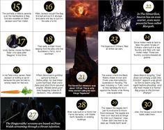 100 Lord of the Rings facts. - Imgur