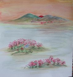 Chinese watercolor.