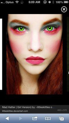Mad hatter makeup!