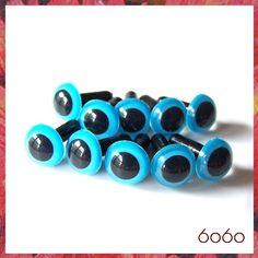 9mm Animals Amigurumi Plastic Safety Eyes 5 PAIRS  Blue by 6060, $3.25