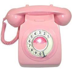 Retro Rotary #vintage_phone  #pink