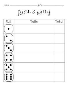 Roll & Tally Math Game #hotm #homeschool #math