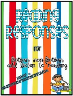 Readers Response Sheets for use with Readers Notebooks or Listening Center