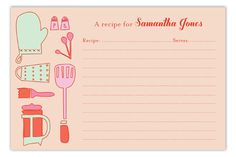 idea, recip card, recipe cards, shower invit, kitchen shower, housewif recip, retro housewife, parti, bridal showers