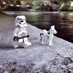 A Stormtrooper and his best friend