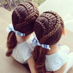 sister braid, beauti hairstyl, braided hairstyles, kid hairstyl