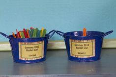Summer Bucket List buckets (One To Do Bucket and One Done Bucket)