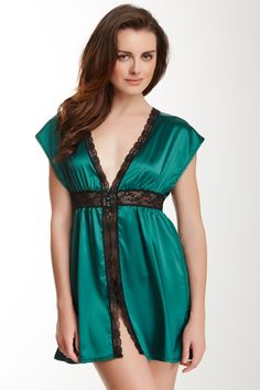 Love Haus by Beach Bunny Satin Lace Robe