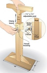 Wood Magazine Tip of the Day - Make your own telescoping work support.