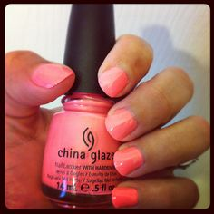 Mani Nails Neon China Glaze Flip Flop Fantasy