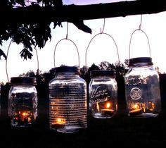 Mason Jar Hanging Tea Light Lantern