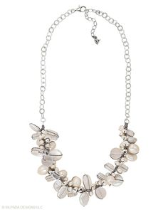 Pop the #bubbly! This effervescent #Sterling #Silver, #Pearl, #Quartz and #Glass #Necklace is a #toast to great #style. #Silpada #Jewelry