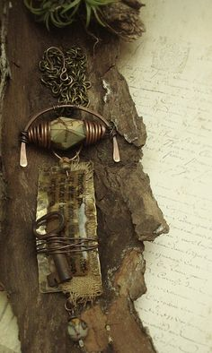 Protection or ...  - Mixed Media Necklace