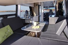Interior of the new SafariCondo Sprinter XL Plus camper (www.safaricondo.com, Quebec). This model is one of the new 2013 Sprinter RV models profiled in my 2013 Sprinter RV Buyer's Guide (www.sprinter-rv.com).