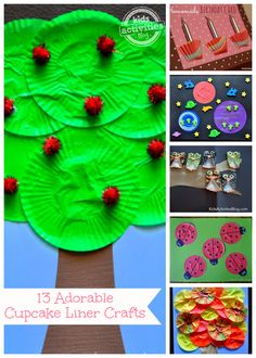 13 {Adorable} Cupcake Liner Crafts