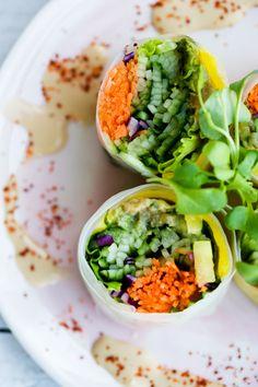 Fresh Raw Veggie Summer Rolls - Yum!