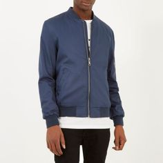 Blue casual bomber j