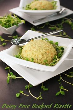 Gluten Free and Dairy Free Seafood Risotto using coconut milk