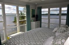 The perfect bedroom by the lake.