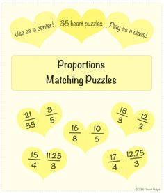 Proportions heart themed puzzles