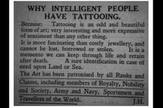 Why we get tattoos