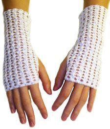 Crochet pattern: shell lace fingerless gloves