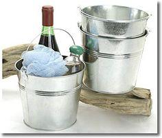 wine, inch round, inch pail, centerpiec, flower, galvan pail