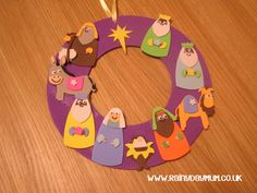 Nativity Wreath.  But please use paper and not foam.  It is non-recyclable!  :/