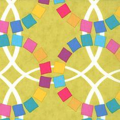 Wedding Rings Chartreuse ~ Quilt Blocks @ Sew, Mama, Sew