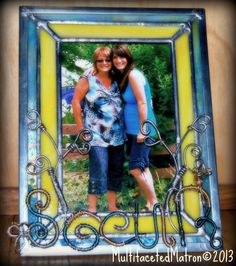 Stained Glass Picture Frame...Made for my sister