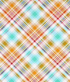 Joel Dewberry Tartan Poppy Fabric - $8.9 | onlinefabricstore.net