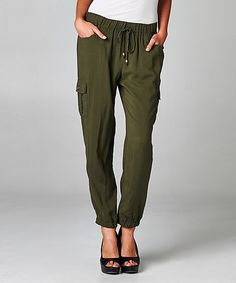 Grape Leaf Harem Cargo Pants