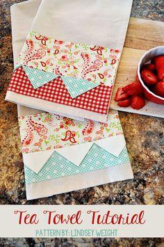 Adorable Tea Towel Tutorial { lilluna.com }