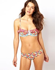 Maaji Tangerine Ruffles Bikini