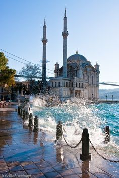 By the Ortakoy Camii in Istanbul, Turkey
