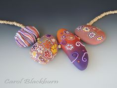extrud clay, crazi bead, beauti bead, polym clay, clay inspir