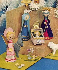 1970s Nativity Set