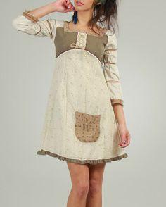Product Name Ian Mosh Pattern-Blocked Pocket Embellished Dress at Modnique.com
