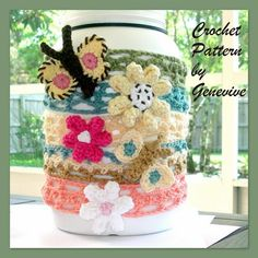Free crocheting pattern: Butterfly and flower headbands