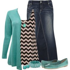 Style a Tank {Contest} ~Hannah I am not crazt about the jean skirt, but some nice jean capris would look nice.