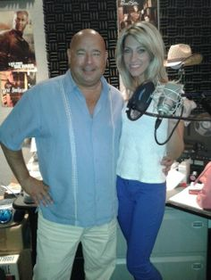 Chef Jim and Nicole in the recording studio! Ready... Set... Premier Cheeseburgers!