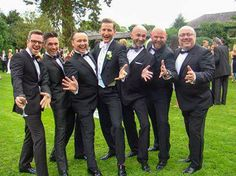 SEPTEMBER 2, 2013  HERE'S ONE MORE PICTURE OF PAUL AND SOME OF HIS FRIENDS FROM THE WEDDING..