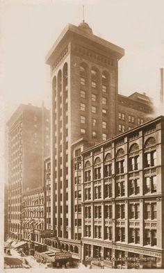 SCHILLER BUILDING – GARRICK THEATRE ON STREET – 1908    POSTCARD - CHICAGO - SCHILLER BUILDING - GARRICK THEATRE ON STREET - 1908