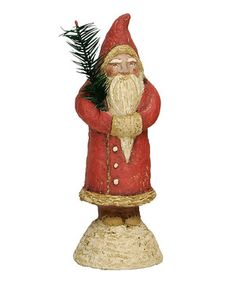 Red Santa & Tree Figurine by Primitives by Kathy