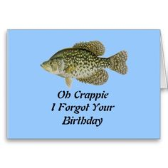 Oh Crappie Greeting Card
