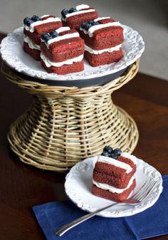 Erica's Sweet Tooth » Mini Flag Layer Cakes