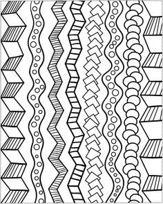 """Zentangle designs to """"steal"""". Very simple perhaps these may be but really good for boardering work among other things ;)"""