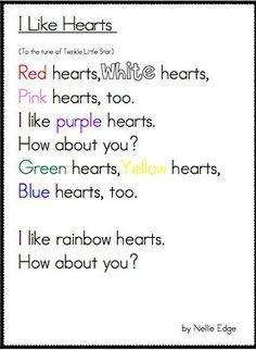 color words hearts poem
